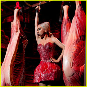 Lady Gaga in a Meat Dress.