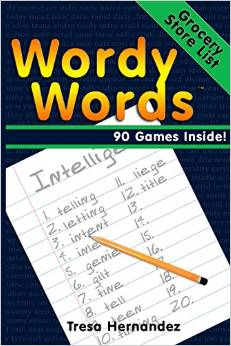 The cover of a book titled - WordyWords - Grocery Store List edition.